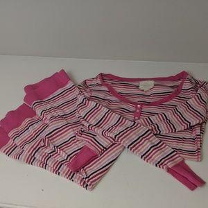 Striped Victoria's Secret Thermal PJ set